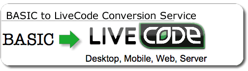BASIC to LiveCode Conversion Service