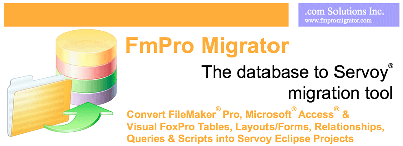 FileMaker and Microsoft Access to Servoy Migration Graphic