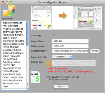 FmPro to Servoy Migration screenshot